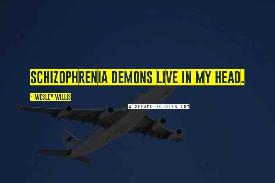 Wesley Willis quotes: Schizophrenia demons live in my head.