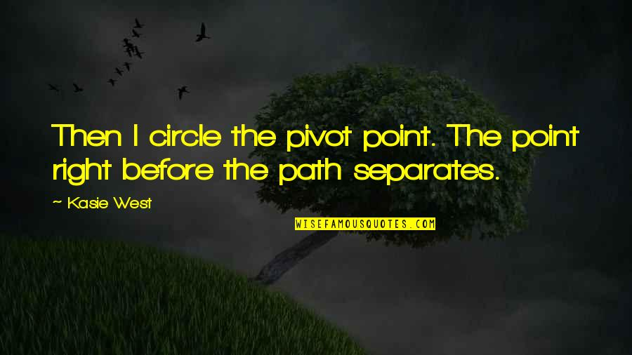 West Point Quotes By Kasie West: Then I circle the pivot point. The point