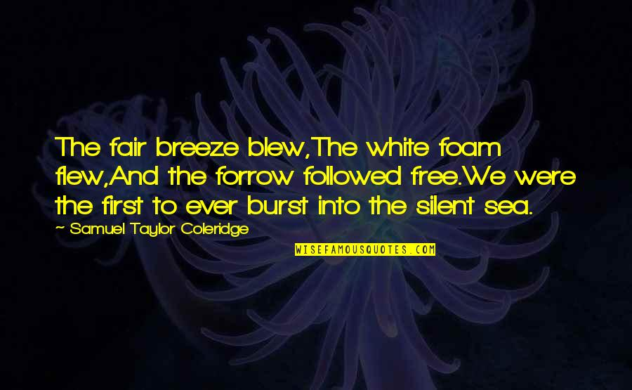 West Virginia University Quotes By Samuel Taylor Coleridge: The fair breeze blew,The white foam flew,And the