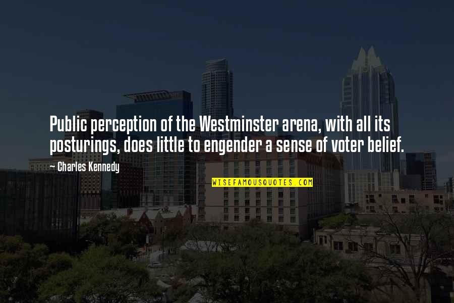 Westminster's Quotes By Charles Kennedy: Public perception of the Westminster arena, with all