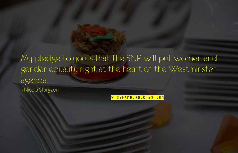 Westminster's Quotes By Nicola Sturgeon: My pledge to you is that the SNP