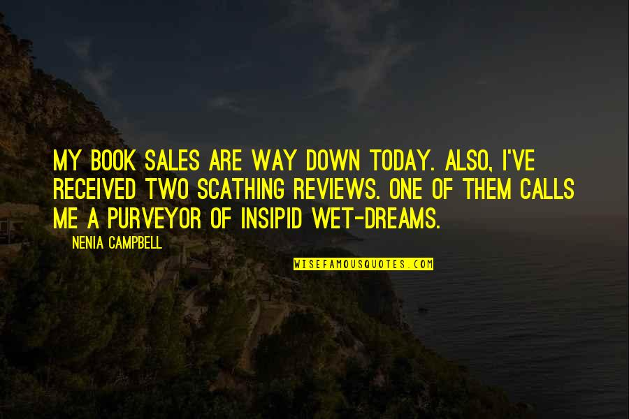 Wet Dreams Quotes By Nenia Campbell: My book sales are way down today. Also,