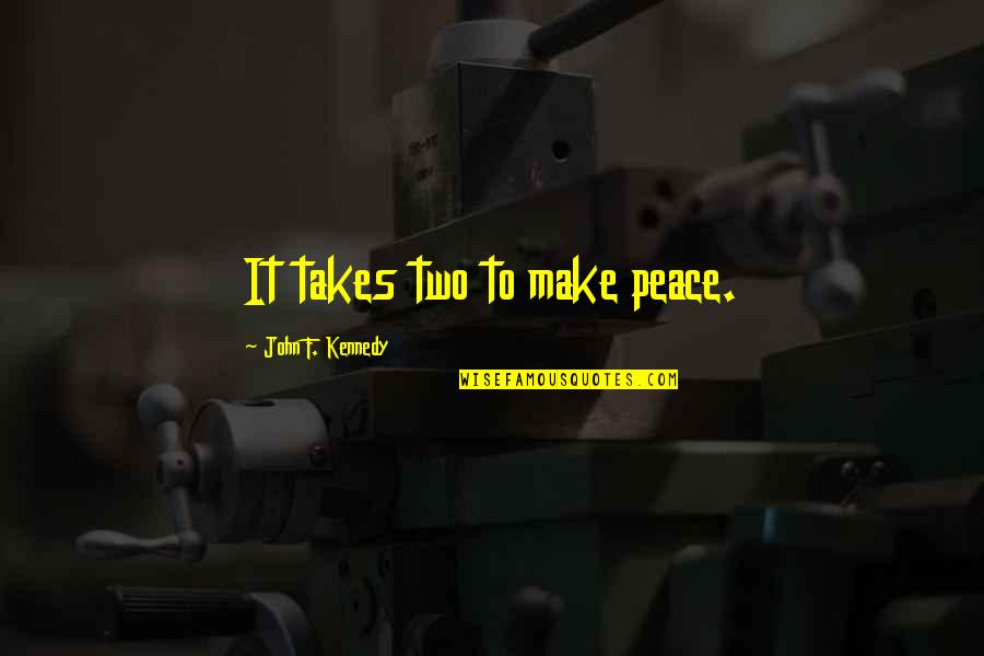 Wfc Stock Quotes By John F. Kennedy: It takes two to make peace.