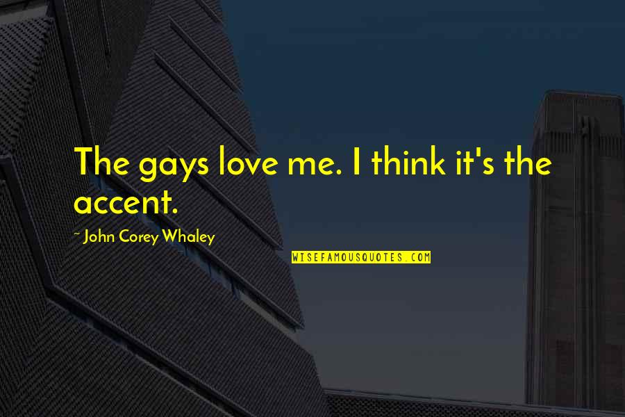 Whaley Quotes By John Corey Whaley: The gays love me. I think it's the