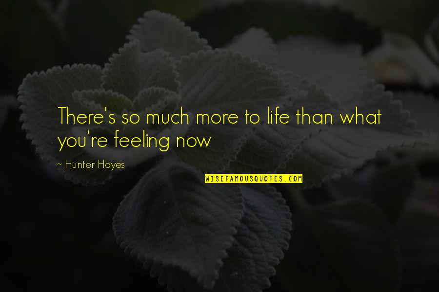 What Are These Feelings Quotes By Hunter Hayes: There's so much more to life than what