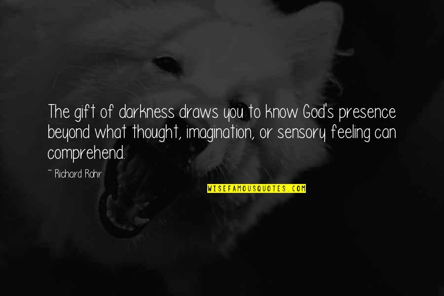What Are These Feelings Quotes By Richard Rohr: The gift of darkness draws you to know