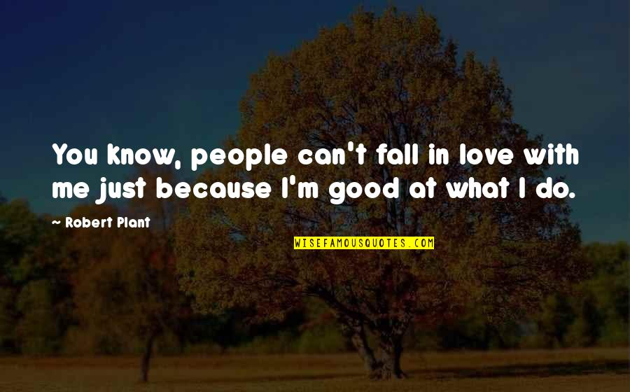 What Can You Do For Me Quotes By Robert Plant: You know, people can't fall in love with