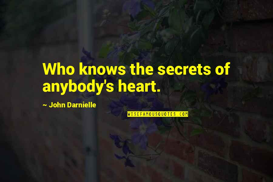 What Changed Between Us Quotes By John Darnielle: Who knows the secrets of anybody's heart.