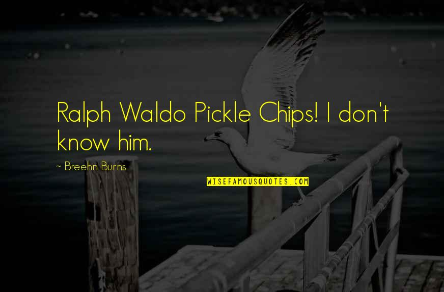 What Could Have Been Love Quotes By Breehn Burns: Ralph Waldo Pickle Chips! I don't know him.