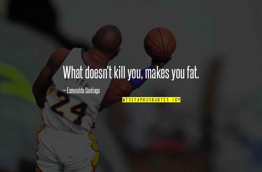 What Doesn Kill You Quotes By Esmeralda Santiago: What doesn't kill you, makes you fat.
