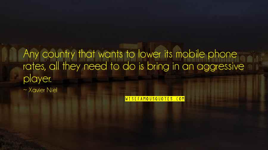What Friendship Means Quotes By Xavier Niel: Any country that wants to lower its mobile