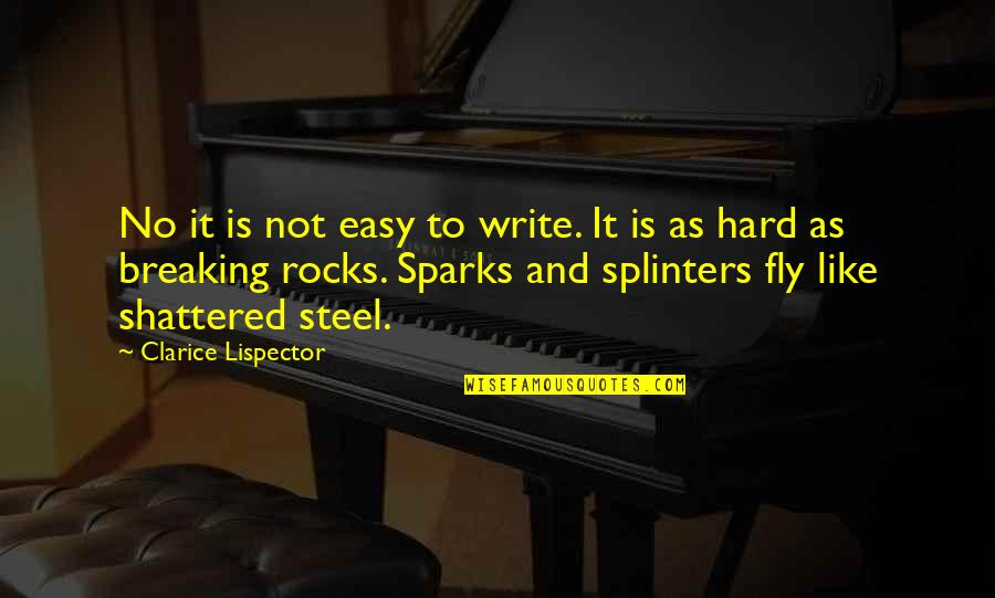 What Happened Yesterday Quotes By Clarice Lispector: No it is not easy to write. It