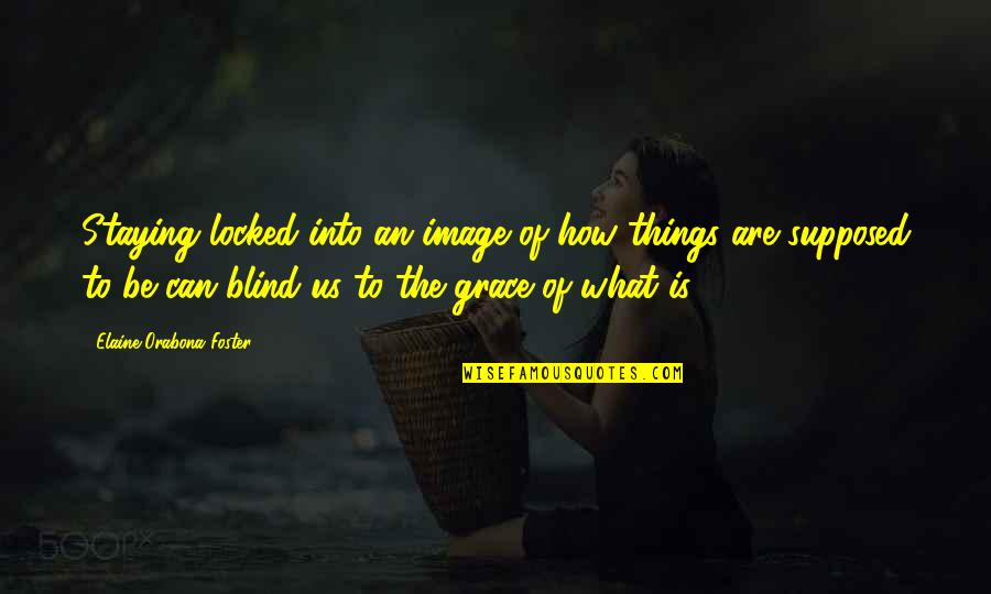 What Is Grace Quotes By Elaine Orabona Foster: Staying locked into an image of how things