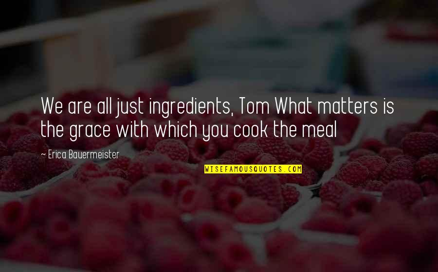 What Is Grace Quotes By Erica Bauermeister: We are all just ingredients, Tom What matters