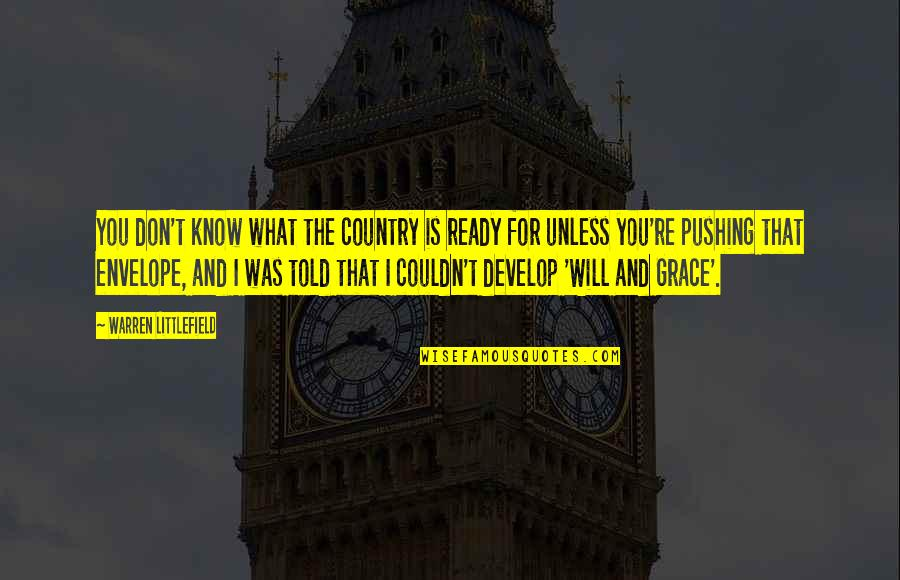 What Is Grace Quotes By Warren Littlefield: You don't know what the country is ready