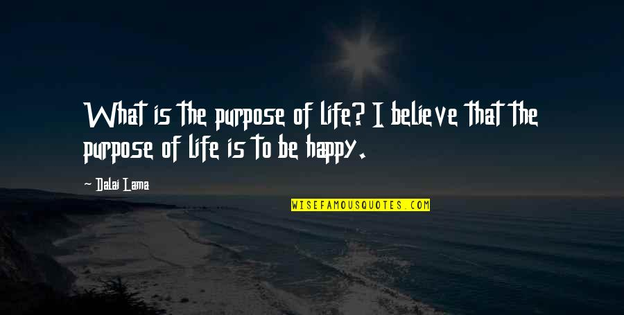 What Is The Purpose Of Life Quotes By Dalai Lama: What is the purpose of life? I believe