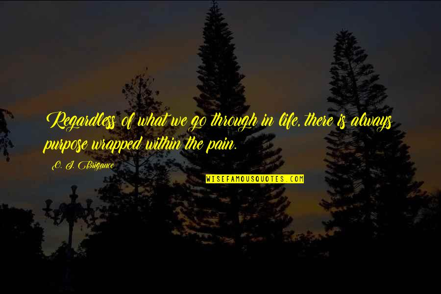 What Is The Purpose Of Life Quotes By O. J. Brigance: Regardless of what we go through in life,