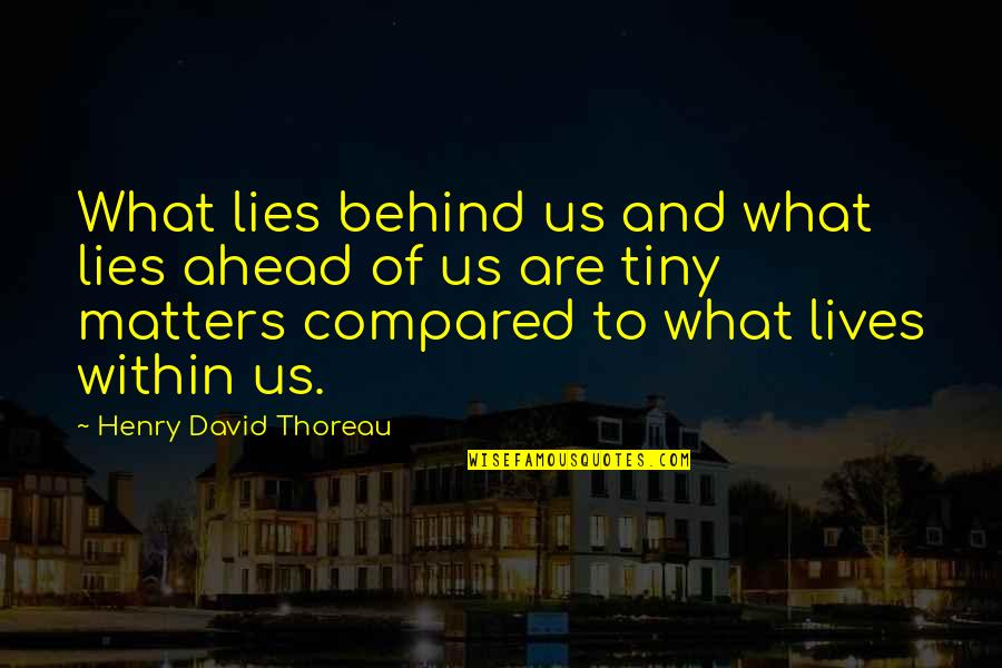What Lies Ahead Of You Quotes By Henry David Thoreau: What lies behind us and what lies ahead