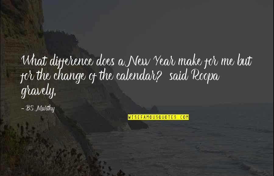What Love Does Quotes By BS Murthy: What difference does a New Year make for
