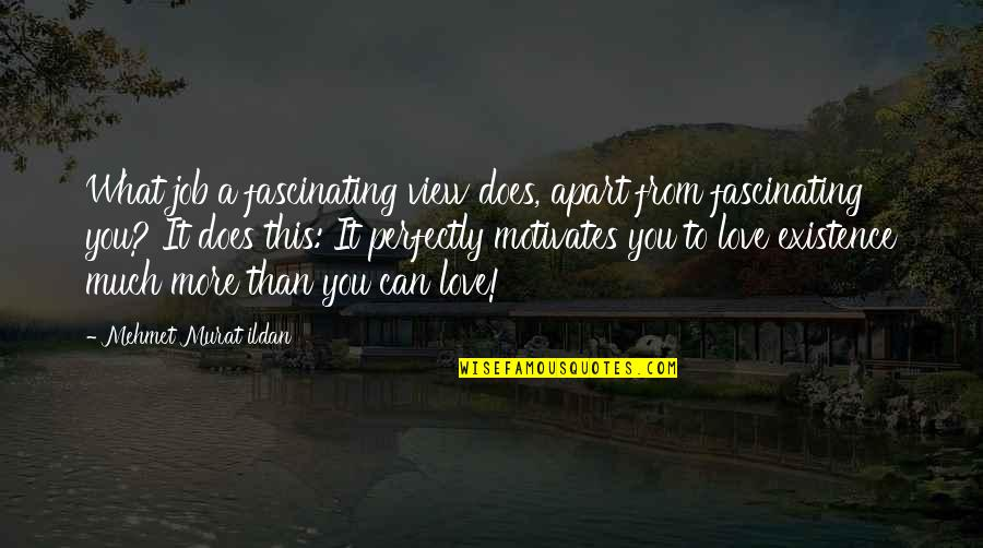 What Love Does Quotes By Mehmet Murat Ildan: What job a fascinating view does, apart from