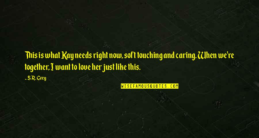 What Love Needs Quotes By S.R. Grey: This is what Kay needs right now, soft
