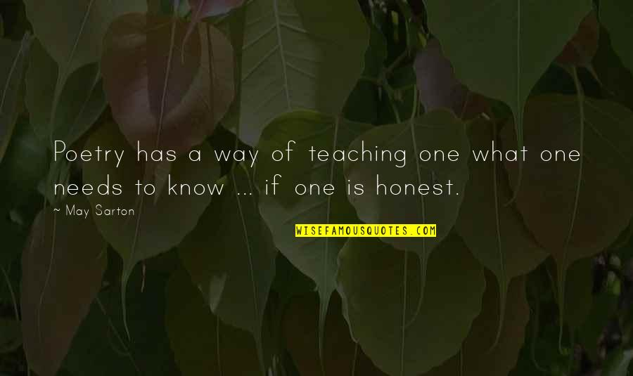 What Poetry Is Quotes By May Sarton: Poetry has a way of teaching one what