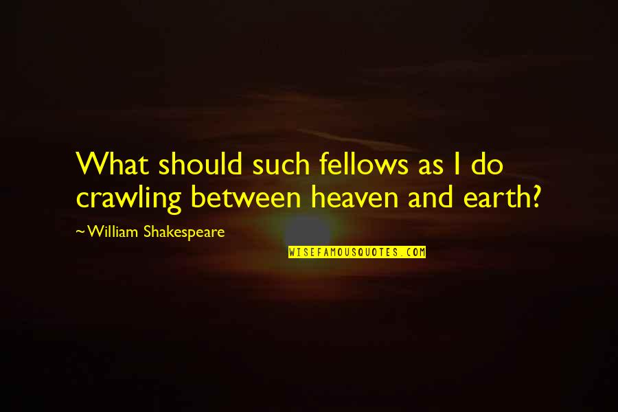 What Shakespeare Quotes By William Shakespeare: What should such fellows as I do crawling