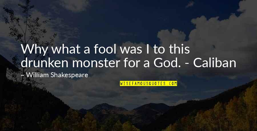 What Shakespeare Quotes By William Shakespeare: Why what a fool was I to this