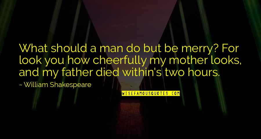 What Shakespeare Quotes By William Shakespeare: What should a man do but be merry?