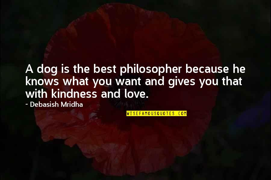 What U Want In Life Quotes By Debasish Mridha: A dog is the best philosopher because he