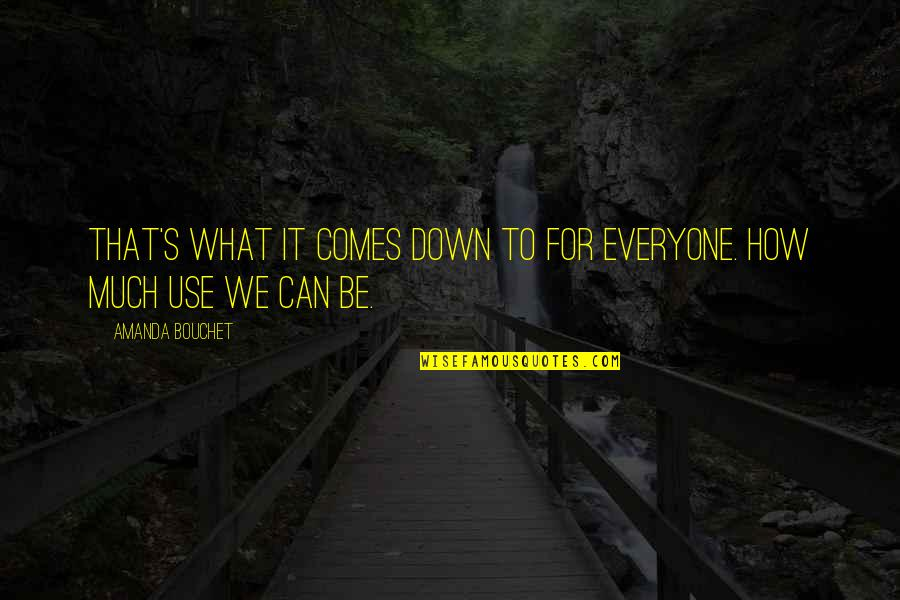 What Use To Be Quotes By Amanda Bouchet: That's what it comes down to for everyone.