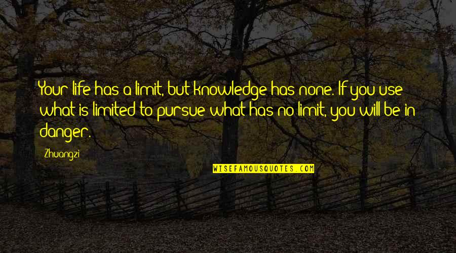 What Use To Be Quotes By Zhuangzi: Your life has a limit, but knowledge has