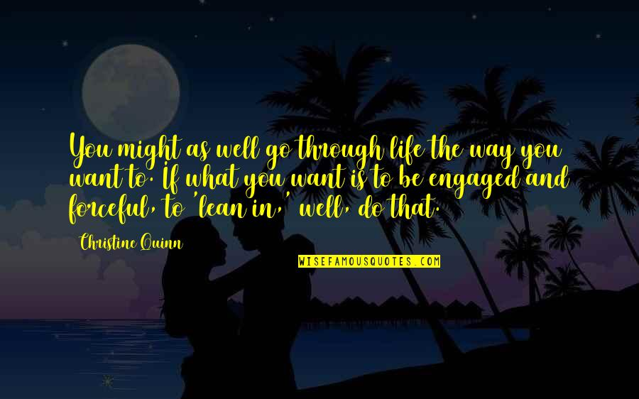 What We Go Through In Life Quotes By Christine Quinn: You might as well go through life the