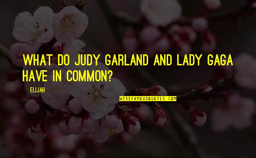 What We Have In Common Quotes By Elijah: What do Judy Garland and Lady Gaga have