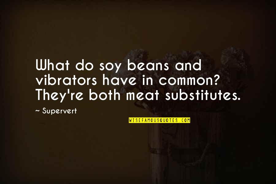 What We Have In Common Quotes By Supervert: What do soy beans and vibrators have in