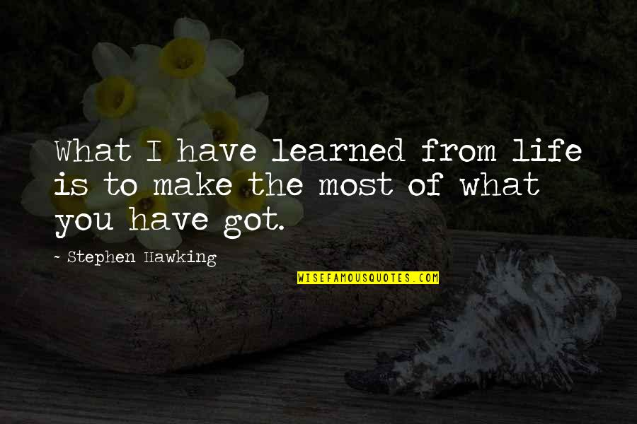 What You Have Learned Quotes By Stephen Hawking: What I have learned from life is to