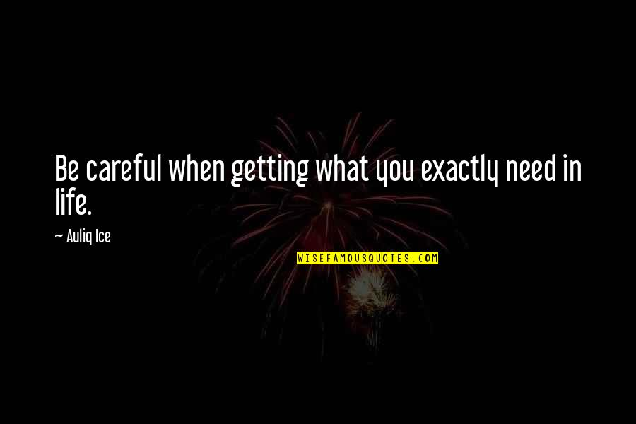 What You Need In Life Quotes By Auliq Ice: Be careful when getting what you exactly need