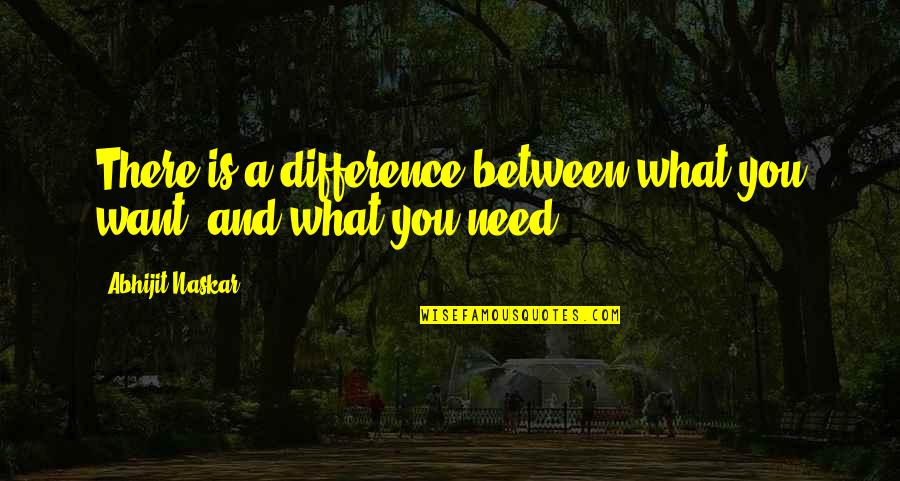 What You Want And Need Quotes By Abhijit Naskar: There is a difference between what you want,