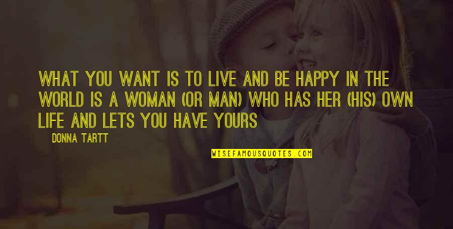 What You Want In Life Quotes By Donna Tartt: What you want is to live and be