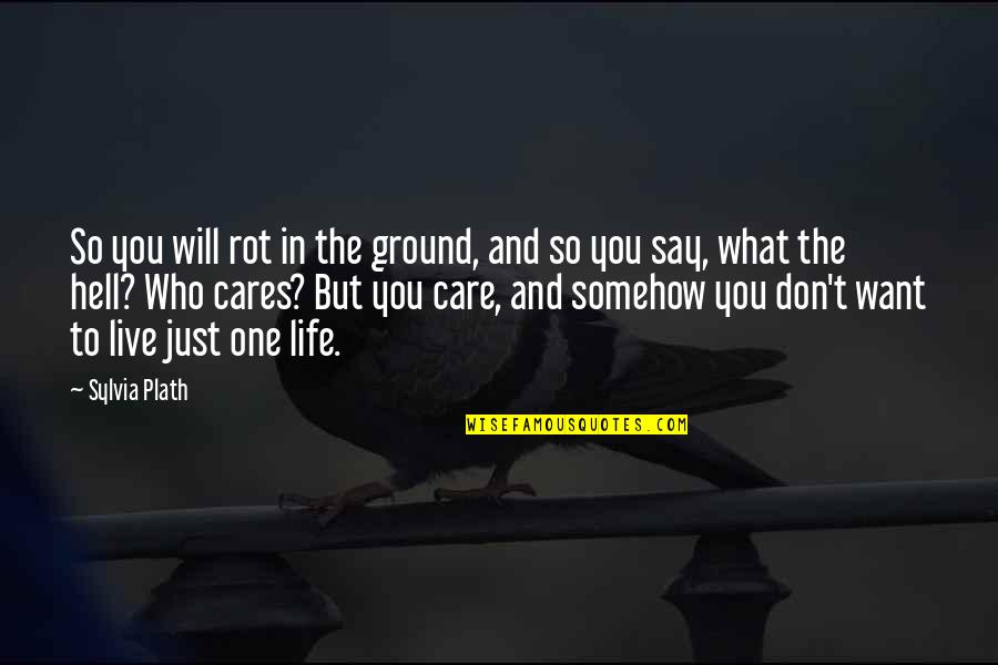 What You Want In Life Quotes By Sylvia Plath: So you will rot in the ground, and