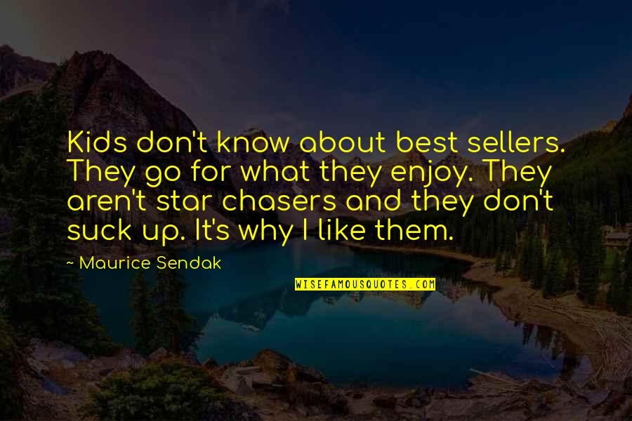 What's Best Quotes By Maurice Sendak: Kids don't know about best sellers. They go