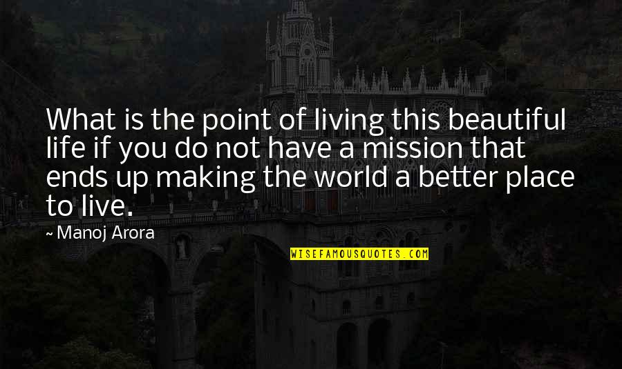 What's The Point Of Life Quotes By Manoj Arora: What is the point of living this beautiful