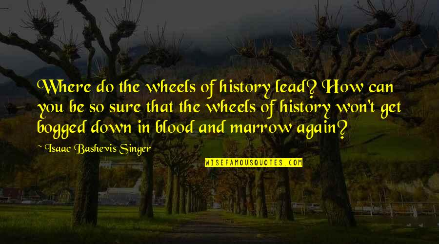 Wheels Quotes By Isaac Bashevis Singer: Where do the wheels of history lead? How