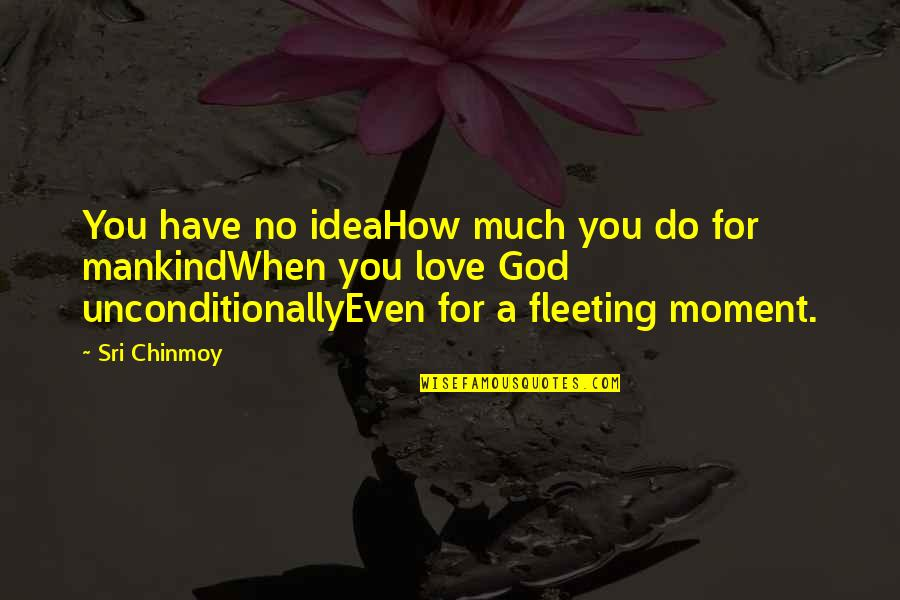 When God Quotes By Sri Chinmoy: You have no ideaHow much you do for