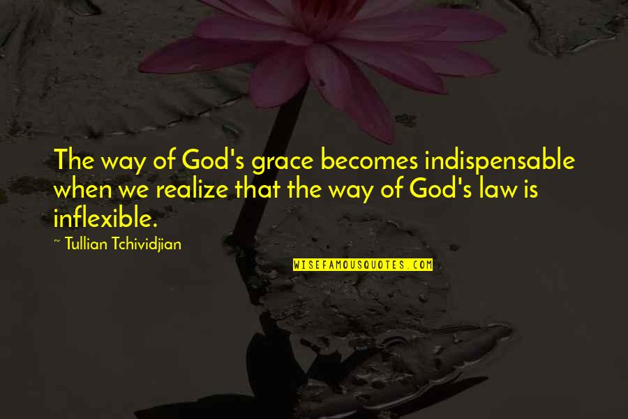 When God Quotes By Tullian Tchividjian: The way of God's grace becomes indispensable when