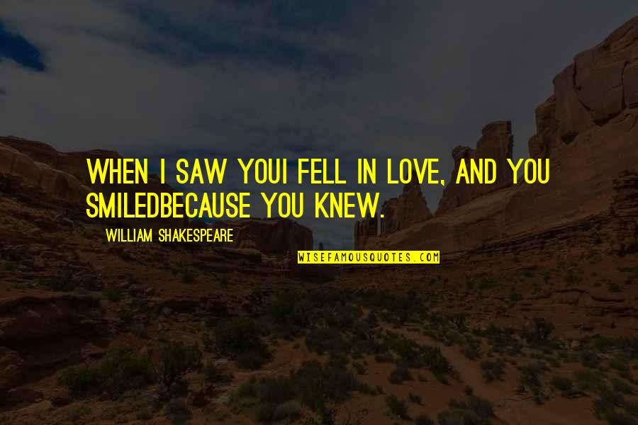 When I Saw You I Fell In Love Quotes By William Shakespeare: When I saw youI fell in love, and