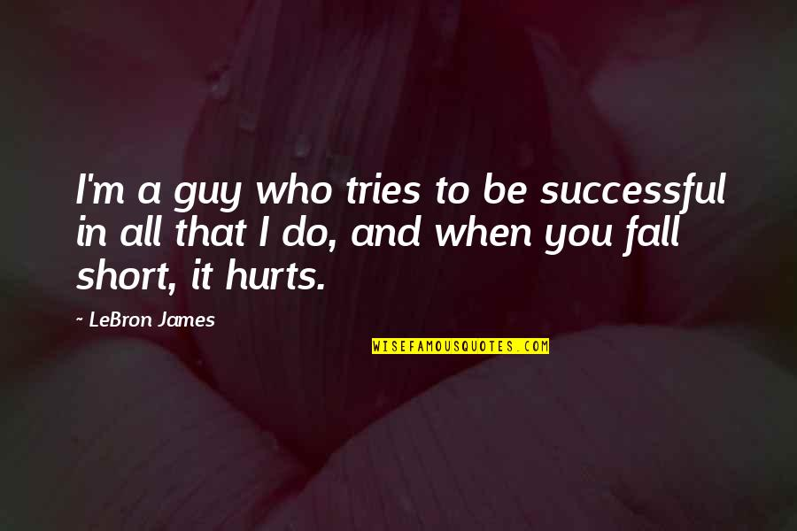When I'm Hurt Quotes By LeBron James: I'm a guy who tries to be successful