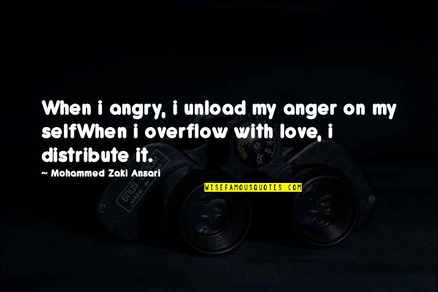 When I'm Hurt Quotes By Mohammed Zaki Ansari: When i angry, i unload my anger on