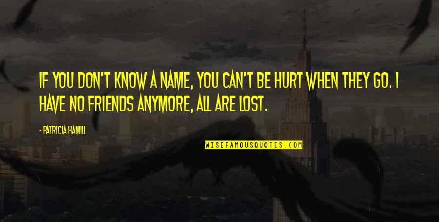 When I'm Hurt Quotes By Patricia Hamill: If you don't know a name, you can't