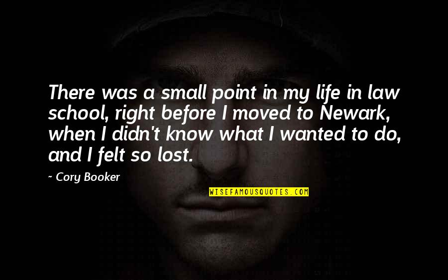 When It Right You Just Know Quotes By Cory Booker: There was a small point in my life